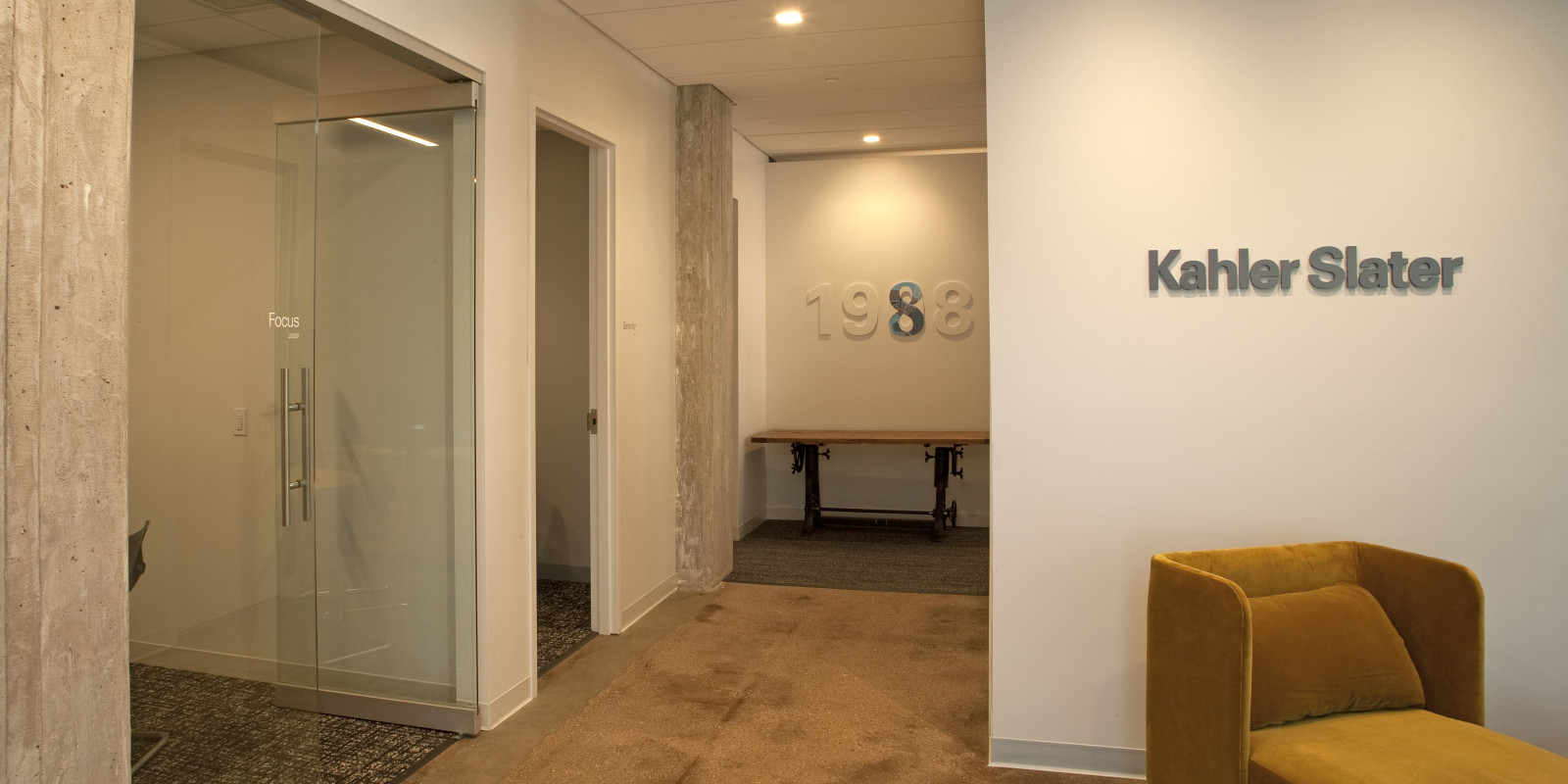 Kahler Slater office reception area, Madison WI